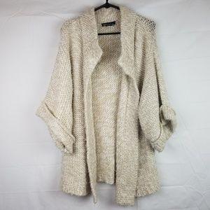 KENZIE Sz L Open Front Chunky Sweater